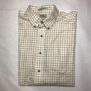 Men's LL Bean Short-Sleeved Button Down Shirt